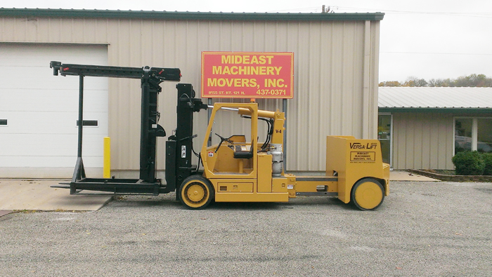 Mideast Machinery Movers Versa Lift Extended